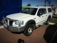 2008 Ford Ranger PJ XL Crew Cab White 5 Speed Manual Utility Cannington Canning Area Preview