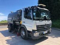 2016 66 Mercedes Atego 1323 Euro 6 Stocks J600 dual sweep road sweeper