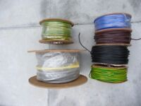 25m, X 25mm. meter tails 6181Y, 50m. X 10mm. earth wire 6491X, etc.