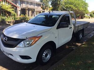 2013 Mazda BT-50 UP0YD1 UR0YG1 XT Hi-Rider Cab Chassis Single Cab 2dr Man 6sp 4x2 15 White 6 Speed Croydon Burwood Area Preview