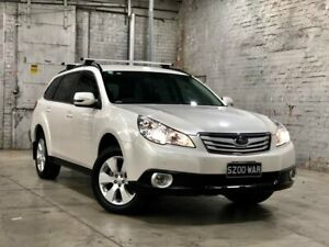 2011 Subaru Outback B5A MY11 2.5i Lineartronic AWD White 6 Speed Constant Variable Wagon Mile End South West Torrens Area Preview