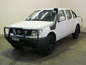 2011 Nissan Navara D40 ST (4x4) White 6 Speed Manual Dual Cab Pick-up Woodridge Logan Area Preview