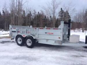 CLEARING OUT FOR NEW ARRIVALS. Dumps, Care haulers, deck trailer