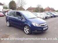2005 (55 Reg) Vauxhall Zafira 2.0I 16V SRI TURBO 5DR MPV BLUE + VXR POWER