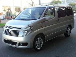 2003 Nissan Elgrand E51 Dual Sunroof Gold 5 Speed Tiptronic Wagon Taren Point Sutherland Area Preview