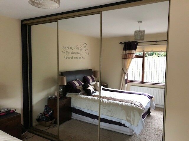 buy popular 017a3 91cc4 Sliderobes, Full mirror 3 door slide robes complete with interior shelving,  (Sliding wardrobe) | in Broughshane, County Antrim | Gumtree