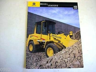 New Holland Lw50 Lw80 Wheel Loader Color Sales Brochure From 1999