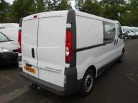 Vauxhall Vivaro 2.0Cdti [115Ps] Doublecab 2.9T Euro 5 DIESEL MANUAL WHITE (2014)