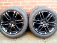 Vauxhall Vectra 5 Stud alloys with 215/50R17 Tyres. Tyres done less than 100 miles