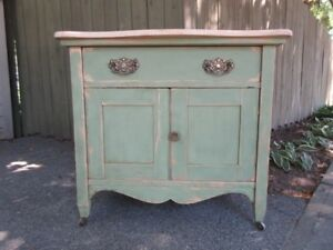 "CHARMING ANTIQUE CABINET ""YOUR PAINTING PROJECT"""
