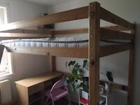 Double Loft Bed - Solid Wood