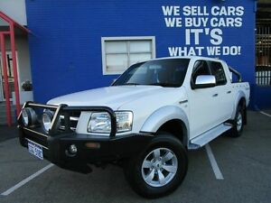 2008 Ford Ranger PJ XLT Crew Cab White 5 Speed Automatic Utility Welshpool Canning Area Preview