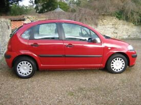 Lovely Citroen C3 New MOT very low miles New clutch and Cambelt
