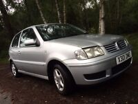 Silver 1.4SE VW Polo, 2 previous owners, great car!