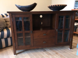 Beautiful Entertainment Ctr solid wood!