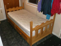 SOLID WOOD Captains Bed with mattress/ can deliver