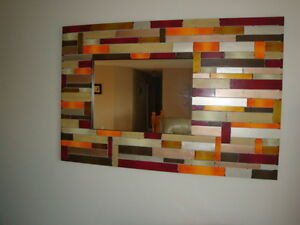 Metal Artwork with Mirror