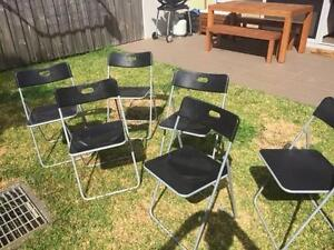 6 IKEA Folding Chairs Lilyfield Leichhardt Area Preview