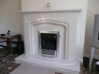 Gas fire insert with coal effect