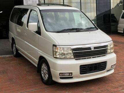 2000 Nissan Elgrand E50 Sunroofs White 4 Speed Automatic Wagon