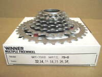 13x30 w//Silver Finish New-Old-Stock Suntour Winner Pro Ultra 6-Speed Freewheel
