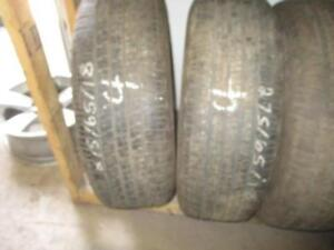 USED 275/65 R18 GOODYEAR WRANGLER TIRES (SET OF 2 - OE FORD F150) - 80% TREAD