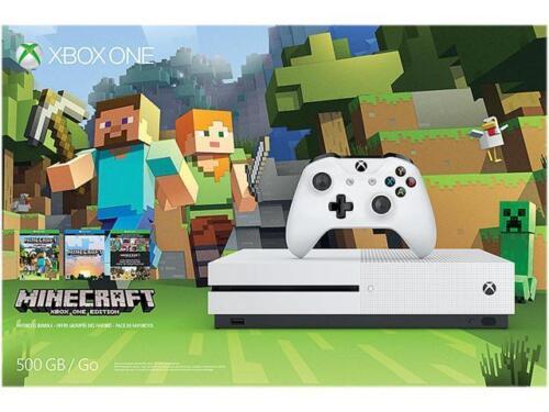 Изображение товара Xbox One S 500GB Console - Minecraft Favorites Bundle