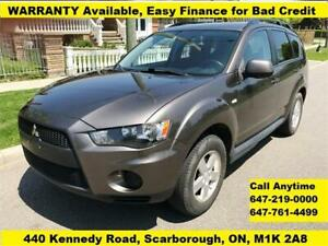 2010 Mitsubishi Outlander FINANCE WARRANTY AVAILABLE,  141k