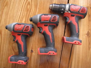 Milwaukee cordless impacts and drill