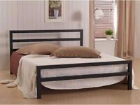 **100% GUARANTEED PRICE!**City Block Double Metal Bed W/ Full Orthopaedic Mattress-Same Day Delivery