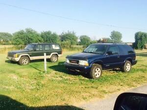 1996 Jeep Cherokee (FL import, with new motor) $5,500 certified.