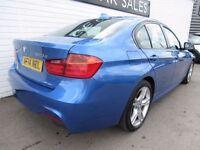 BMW 3 SERIES 2.0 320D XDRIVE M SPORT 4d AUTO 181 BHP (blue) 2014