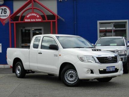 2012 Toyota Hilux KUN16R MY12 SR Xtra Cab White 5 Speed Manual Utility
