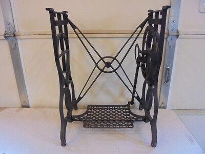 Antique Davis Honeymoon Sewing Machine Treadle Legs Table Base Steampunk