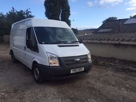 2012 12 FORD TRANSIT (2.2 TDCI) 125 BHP T300 LWB Medium ROOF PANEL VAN NO VAT