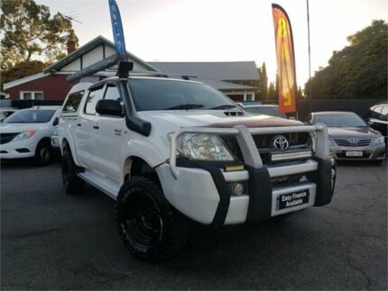 2009 Toyota Hilux KUN26R 09 Upgrade SR (4x4) White 5 Speed Manual Dual Cab Pick-up Mount Hawthorn Vincent Area Preview