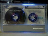 MEMOREX DBS1 / DBSI 60 (1993-1994) BLUE ISSUE CASSETTE TAPES. 60p each. WE HAVE MOST MEMOREX TAPES.