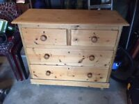 Rustic antique Pine Chest of Drawers.