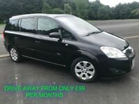 MARCH 2009 VAUXHALL ZAFIRA 1.8 BREEZE ALLOYS ELECTRIC PACK MOT FEB 2019 FINANCE AVAIL £99 PER MONTH