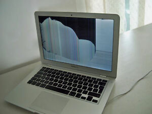 "Looking to buy an A1466 MacBook Air 13"" with a broken screen."