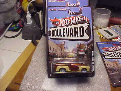 Hot Wheels Boulevard Custom '56 Ford Truck with Real Riders