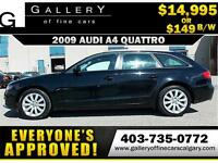 2009 Audi A4 2.0T QUATTRO $149 bi-weekly APPLY NOW DRIVE NOW