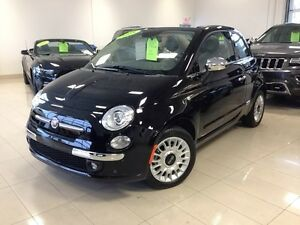 2015 FIAT 500c LOUNGE NOIR DECAPOTABLE UCONNECT CUIR SIEGES CHAU