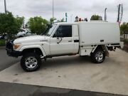 2012 Toyota Landcruiser VDJ79R MY10 GX White 5 Speed Manual Cab Chassis Robina Gold Coast South Preview
