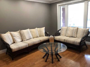 living room set, Sofa loveseat and coffee table
