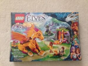 Lego Elves Fire Dragon's Lava Cave 41175 New Unopened