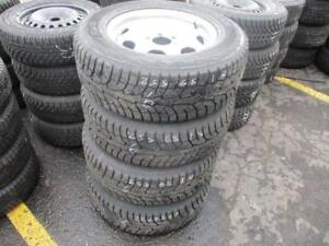 255/65 R17 HANCOOK WINTER TIRES ON STEEL RIMS USED SNOW TIRES (SET OF 4) - APPROX. 85% TREAD