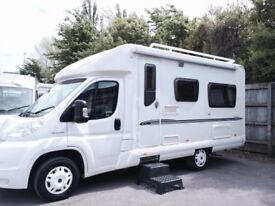 2 Berth Bessacar E460 Motorhome in lovely condition. New Tyres, New TV, New Garmin Sat Nav