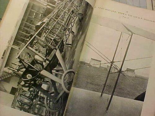 ORIGINAL WWI RAF AEROPLANES AIRCRAFT TECHNICAL NOTES MANUAL - SPAD ETC