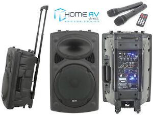 QTX QR15PA Portable PA System 2x Wireless Mics USB SD MP3 AUX & Remote 178.846UK